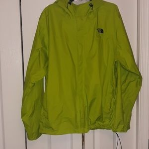 The North Face lime green size XXL windbreaker